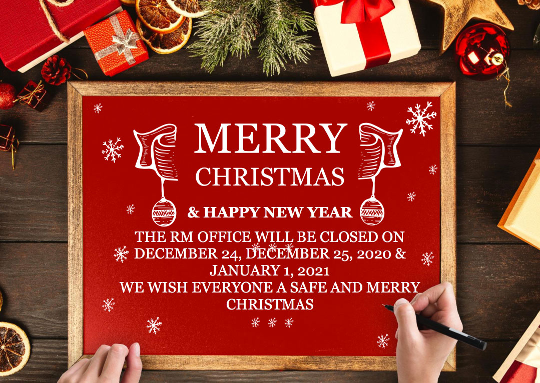 Merry Christmas and Happy New Year 2021. Rural Municipality of Biggar Office Holiday hours.